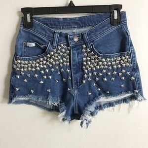 Vintage High Waisted Lee Studded Shorts